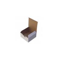 13,5X13,5X6,5 Kilitli Beyaz Karton Kutu Koli 20 Adet