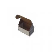 15X8X6,5Cm Beyaz Kilitli Karton  Kutu Koli 20 Adet