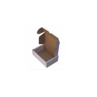 19X13X6Cm Beyaz Kilitli Karton Kutu Koli 20 Adet