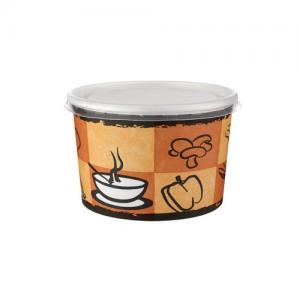 Karton Çorba Kasesi 100 Adet Kapaklı