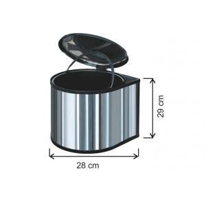 Pedallı Çöp Kovası 12 LT 430 Kalite Arı Metal 1011