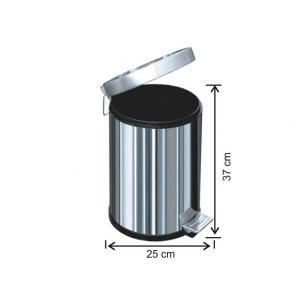Pedallı Çöp Kovası 12 LT 430 Kalite Arı Metal 1003