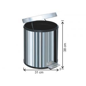 Pedallı Çöp Kovası 20 LT 430 Kalite Arı Metal 1014