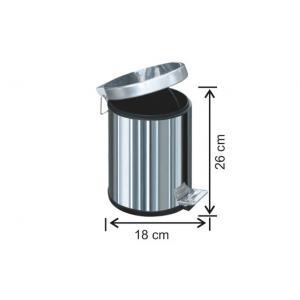 Pedallı Çöp Kovası 3 LT 430 Kalite Arı Metal 1001