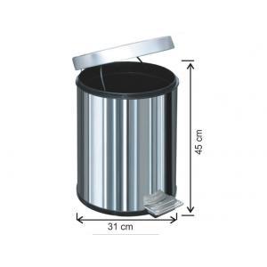 Pedallı Çöp Kovası 30 LT 430 Kalite Arı Metal 1015