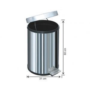 Pedallı Çöp Kovası 40 LT 430 Kalite Arı Metal 1020