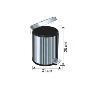 Pedallı Çöp Kovası 5 LT 430 Kalite Arı Metal 1002