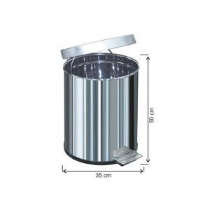 Pedallı Çöp Kovası 50 LT Su Sızdırmaz 430 Kalite Arı Metal 1051