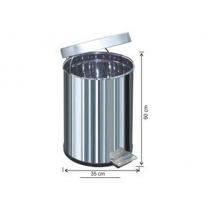 Pedallı Çöp Kovası 60 LT Su Sızdırmaz 430 Kalite Arı Metal 1052