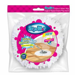 Spin Mop Döner Başlıklı Temizlik Seti Yedek Mopu 2 Adet